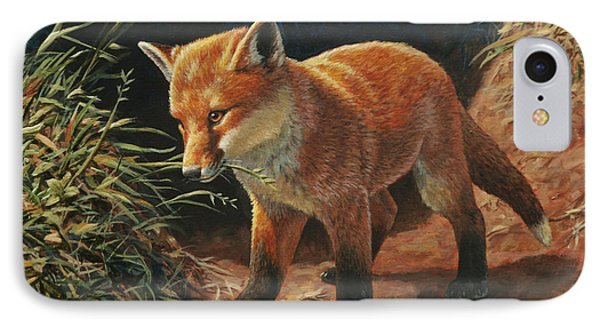 Red Fox Pup - Learning Phone Case by Crista Forest