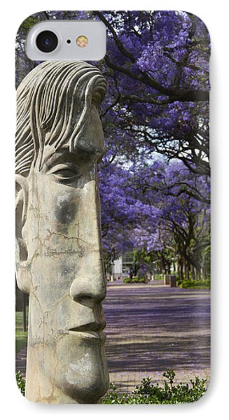Learning To Love Purple IPhone Case by Taschja Hattingh