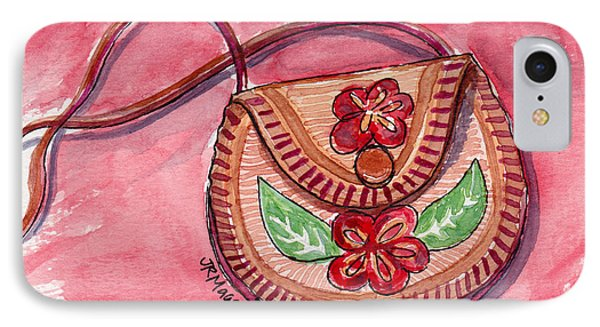Leather Flowered Pouch IPhone Case