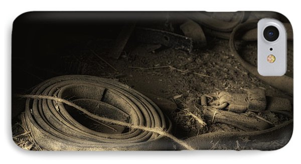 Leather Strap Still Life IPhone Case by Tom Mc Nemar