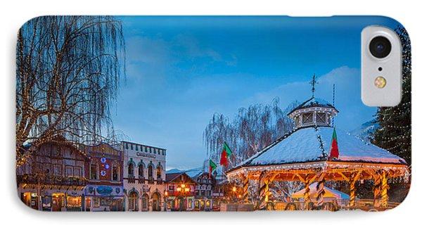 Leavenworth Christmas Moon Phone Case by Inge Johnsson