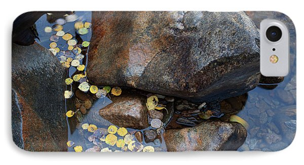 Leaves In A Stream Phone Case by Jim Garrison