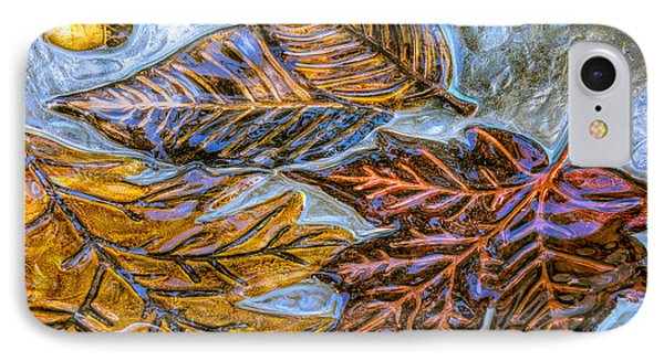 Leaves In Glass IPhone Case by Lewis Mann