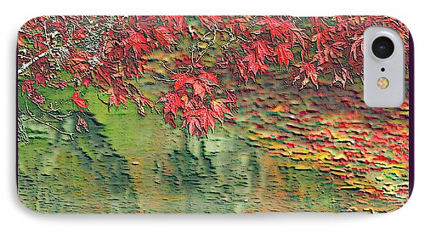Leaves On The Creek 3 With Small Border 3 Phone Case by L Brown