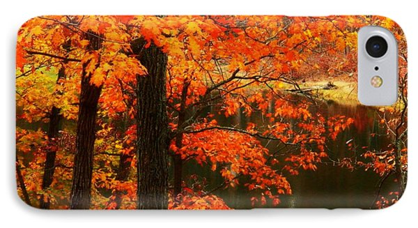Leaves Over Water IPhone Case by Joyce Kimble Smith