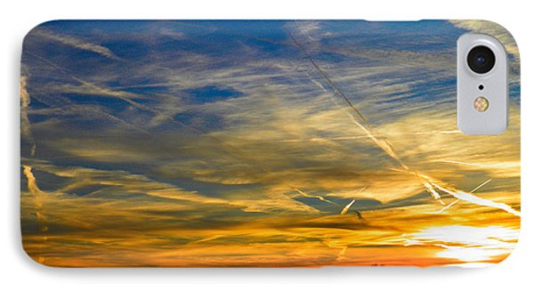 Leavin On A Jetplane Sunset IPhone Case by Nick Kirby