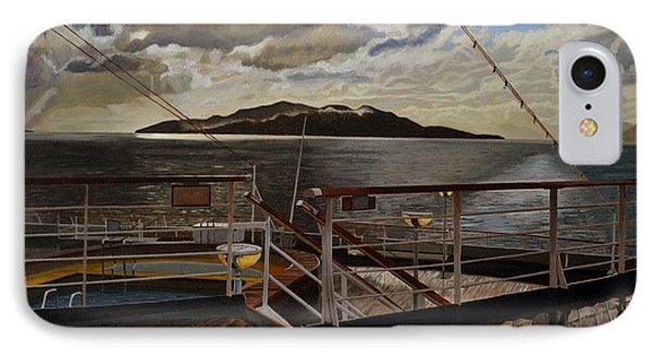 Leaving Queen Charlotte Sound Phone Case by Thu Nguyen
