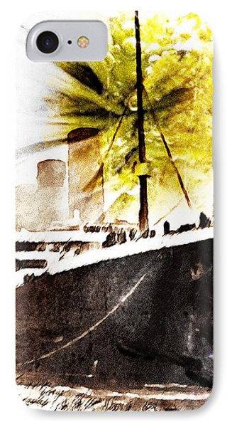 Leaving Ship IPhone Case by Andrea Barbieri