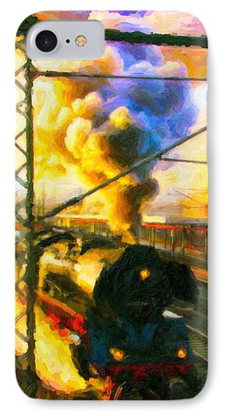IPhone Case featuring the digital art Leaving The Station by Chuck Mountain