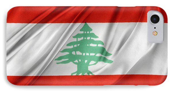 Lebanese Flag Phone Case by Les Cunliffe