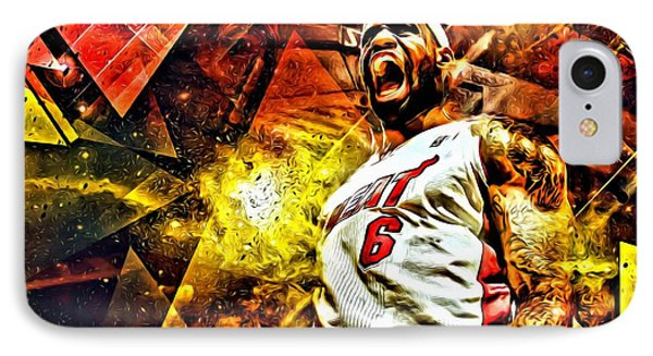 Lebron James Art Poster IPhone Case