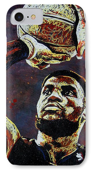 Lebron James iPhone 7 Case - Lebron James Mvp by Maria Arango