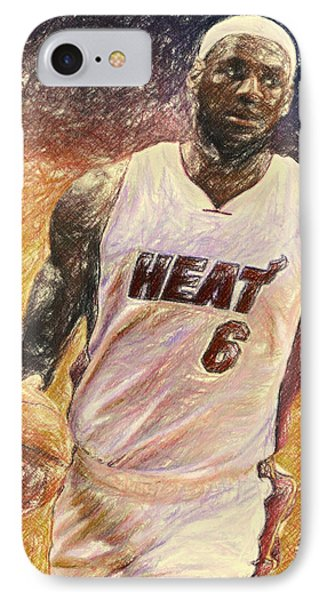Lebron James Phone Case by Taylan Apukovska