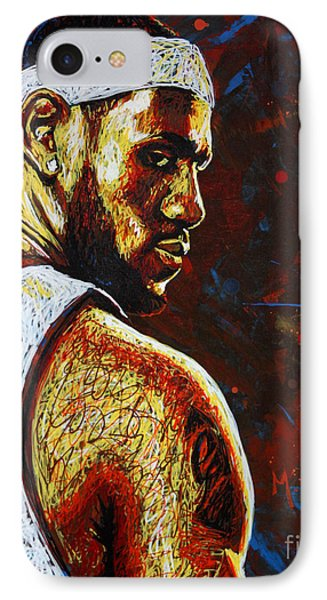 Lebron  IPhone Case by Maria Arango