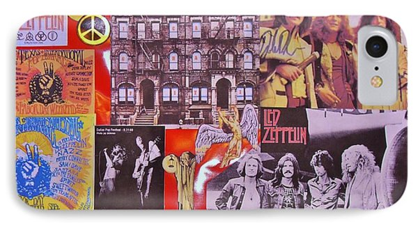 Led Zeppelin  Collage Number Two Phone Case by Donna Wilson