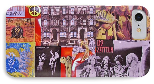 Led Zeppelin  Collage Number Two IPhone Case by Donna Wilson