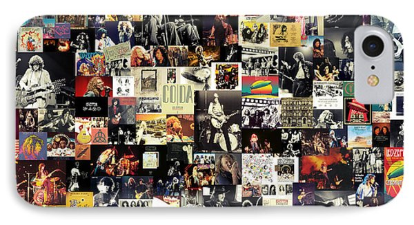 Led Zeppelin Collage IPhone Case by Taylan Apukovska