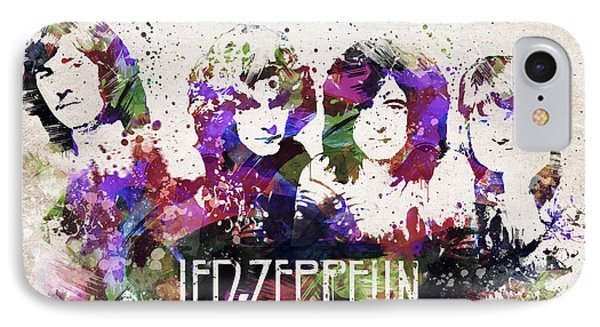 Led Zeppelin Portrait IPhone Case by Aged Pixel