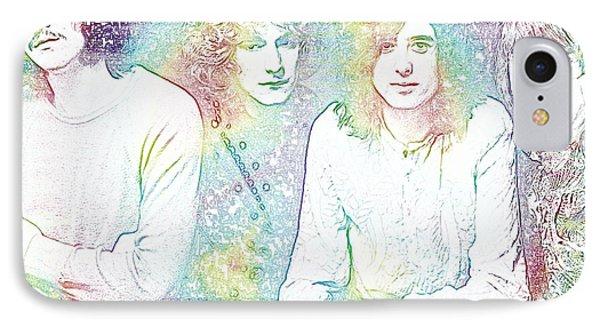 Led Zeppelin Tie Dye IPhone 7 Case by Dan Sproul