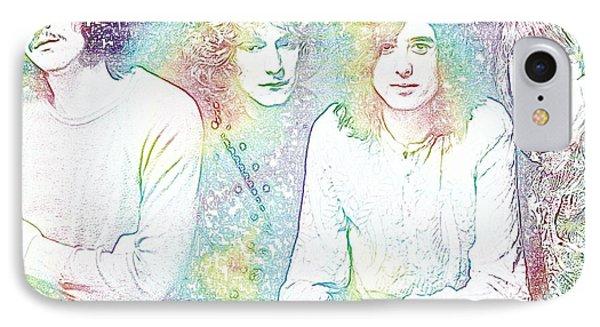 Led Zeppelin Tie Dye IPhone Case by Dan Sproul