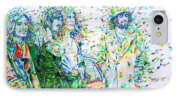 Led Zeppelin - Watercolor Portrait.2 IPhone Case
