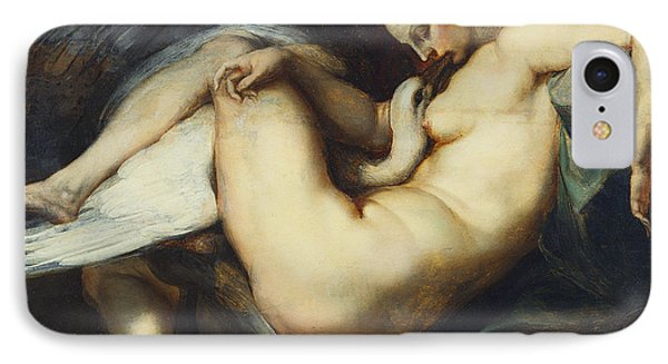 Leda And The Swan IPhone Case by Rubens