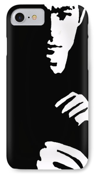 IPhone Case featuring the drawing Lee Ready To Kick Some Ass by Robert Margetts