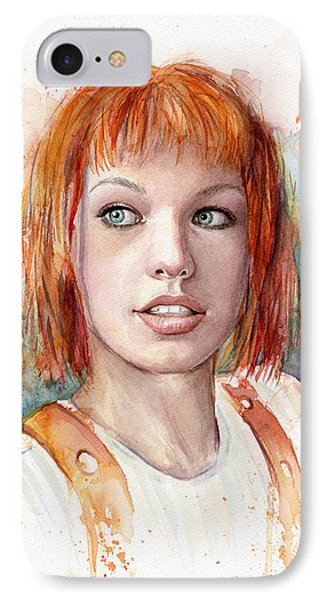 Dallas iPhone 7 Case - Leeloo Portrait Multipass The Fifth Element by Olga Shvartsur