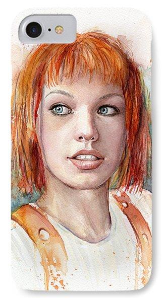 Leeloo Portrait Multipass The Fifth Element IPhone 7 Case by Olga Shvartsur