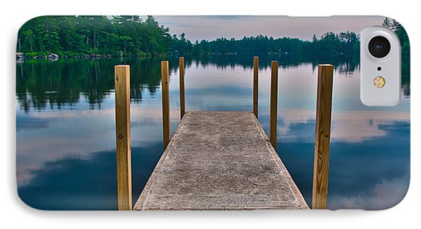 Lees Mills Dock IPhone Case by Brenda Jacobs
