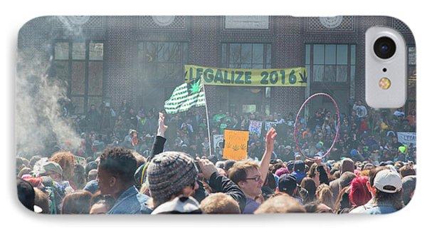 Legalisation Of Marijuana IPhone 7 Case by Jim West
