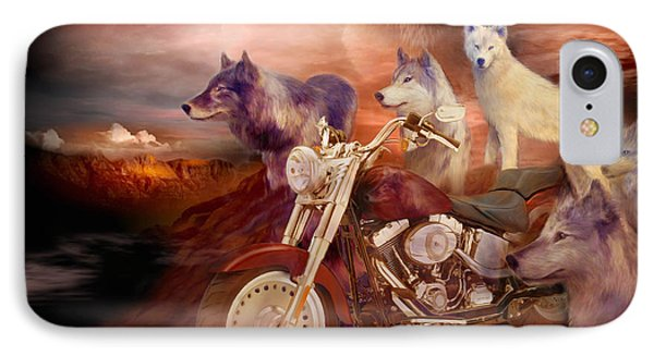Legend Of Wolf Mountain Phone Case by Carol Cavalaris