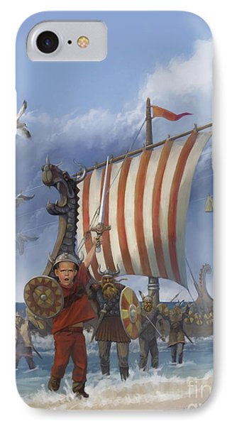 IPhone Case featuring the painting Legendary Viking by Rob Corsetti
