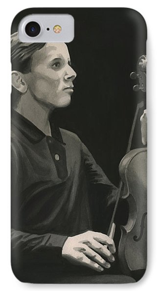 IPhone Case featuring the painting Legendary Violinist by Ferrel Cordle