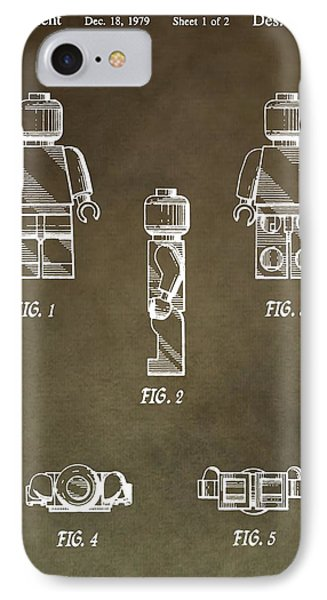 Lego Man Patent IPhone Case by Dan Sproul