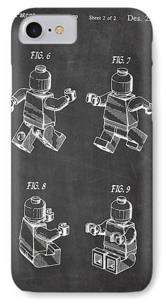 Lego Patent Drawing IPhone Case by Art Photography