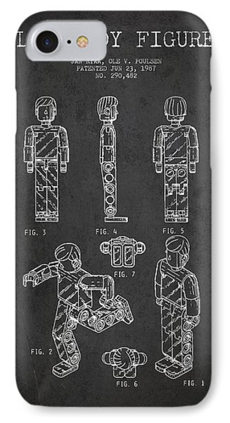 Lego Toy Figure Patent - Dark Phone Case by Aged Pixel