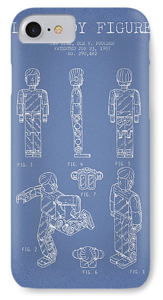 Lego Toy Figure Patent - Light Blue Phone Case by Aged Pixel