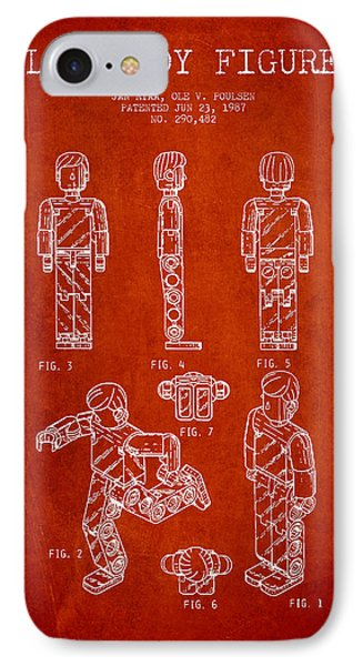 Lego Toy Figure Patent - Red Phone Case by Aged Pixel