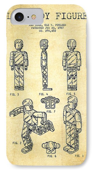 Lego Toy Figure Patent - Vintage Phone Case by Aged Pixel