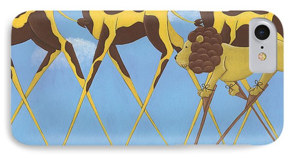 Whimsical Giraffe Painting  Phone Case by Christy Beckwith