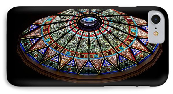 Lehigh University Linderman Library Rotunda Window IPhone Case by Jacqueline M Lewis