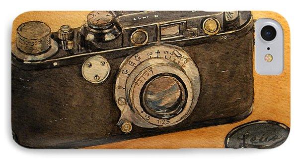 Leica II Camera IPhone Case by Juan  Bosco
