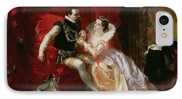 Leicester And Amy Robsart At Cumnor IPhone Case by Edward Matthew Ward
