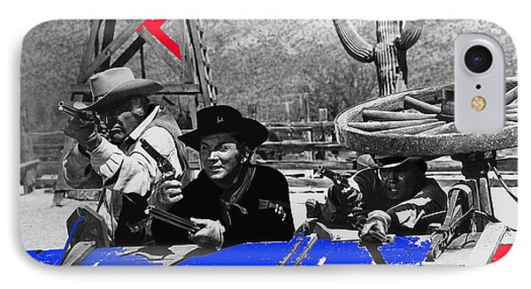 Leif Erickson Cameron Mitchell  Mark Slade Number 1 The High Chaparral Set Old Tucson Az 1969 Phone Case by David Lee Guss