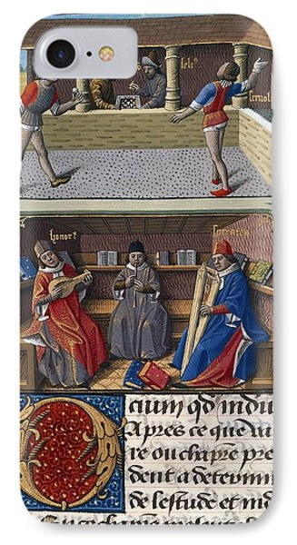 Leisure Pursuits, 15th-century Manuscript IPhone Case by British Library