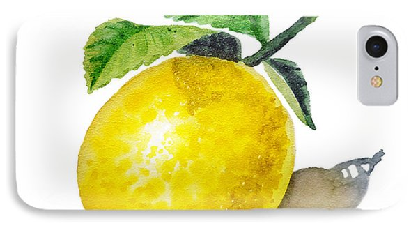Lemon iPhone 7 Case - Artz Vitamins The Lemon by Irina Sztukowski