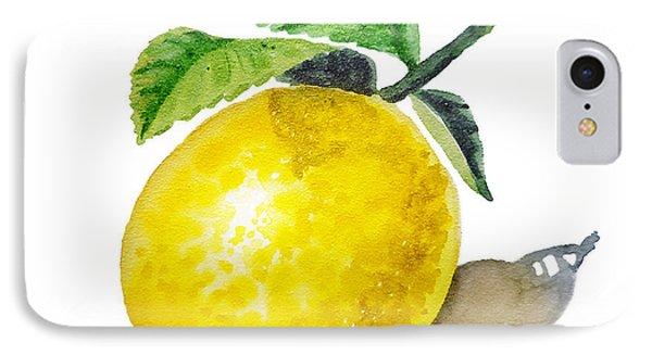 Lemon IPhone 7 Case by Irina Sztukowski