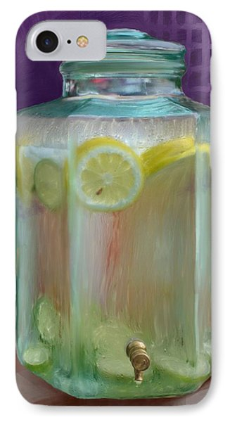 Lemon Limeade IPhone Case by Ric Darrell