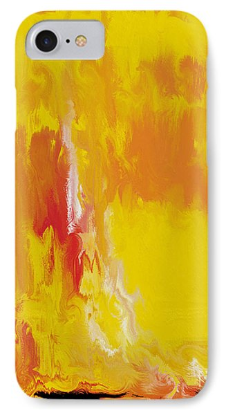 IPhone Case featuring the painting Lemon Yellow Sun by Roz Abellera Art